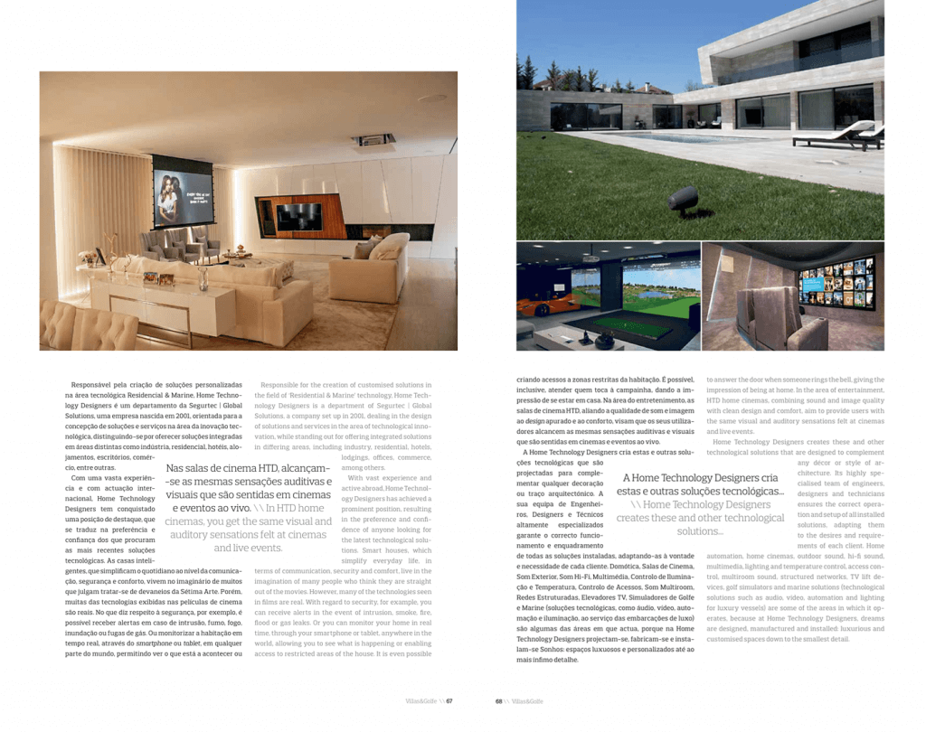 Home Technology Designers highlighted in Villas & Golfe